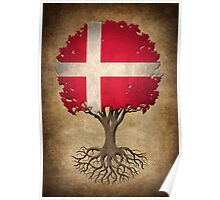 Tree of Life with Danish Flag Poster
