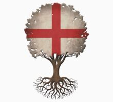Tree of Life with English Flag Kids Clothes