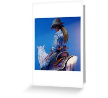 """Cowgirl Blues"" Greeting Card"