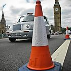 Cone, Cab and Big Ben by karentolson
