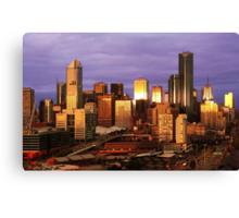 Melbourne at sunset, from Docklands Canvas Print