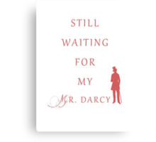 Waiting for My Darcy- Red Canvas Print