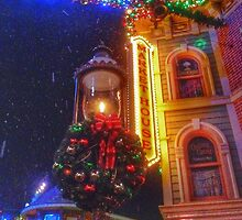 Snow on Main Street USA by disneyfied