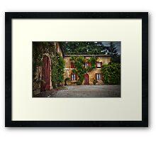 Courtyard Bliss Part 1 Framed Print