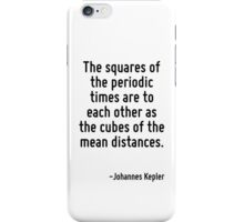 The squares of the periodic times are to each other as the cubes of the mean distances. iPhone Case/Skin