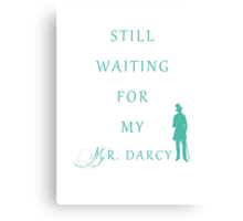 Waiting for My Darcy - Green Canvas Print