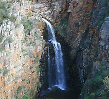 Morialta Water Fall 1 from a distance. by elphonline