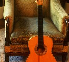Guitar and Chair by Rodney Williams
