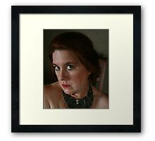 Self in Egyptian Necklace Framed Print