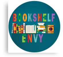 Book Shelf Envy- White Border Canvas Print