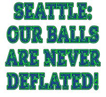 DEFLATEGATE! Seattle Our Balls are NEVER Deflated Photographic Print
