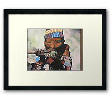 Sippin' Grandma Framed Print