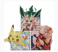 Manga Style Pokemon Perspective Kids Clothes