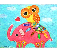 Love Is Like An Elephant Photographic Print