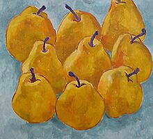 Ripe yellow pears by Vitali Komarov
