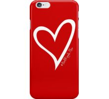 #BeARipple...FLOW White Heart on Red iPhone Case/Skin