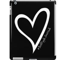 #BeARipple...GRATITUDE White Heart on Black iPad Case/Skin