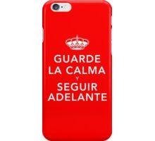 Guarde La Calma Y Seguir Adelante iPhone Case/Skin