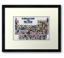 Final Fantasy Periodic table, Chart (all character) Framed Print