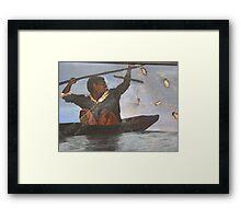 African Fisherman Framed Print