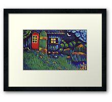 Enchanted Hut Framed Print