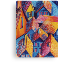 Roof Top Quilt Canvas Print