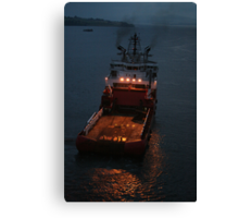 Suvarna, anchor handling vessel. Canvas Print