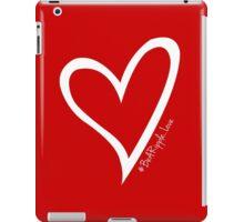 #BeARipple...LOVE White Heart on Red iPad Case/Skin