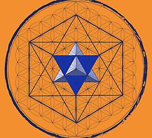 Blue Merkaba by John Girvan