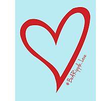 #BeARipple...LOVE Red Heart on Blue Photographic Print