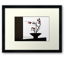 Bowl With Japonica Framed Print