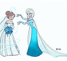 Frozen | Anna and Elsa by Padme Nowland