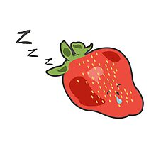 Sleeping beauty strawberry Photographic Print