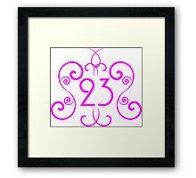 Pink 23 Framed Print
