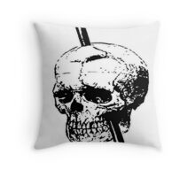 The Skull of Phineas Gage Vintage Illustration Vector Throw Pillow