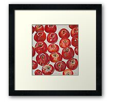 Beautiful red apples Framed Print