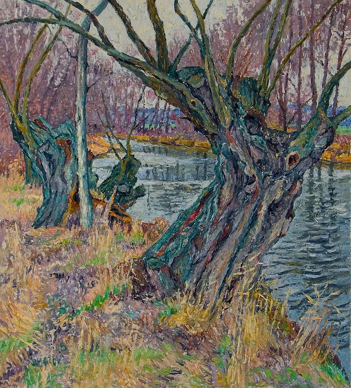 Weeping willows by Vitali Komarov