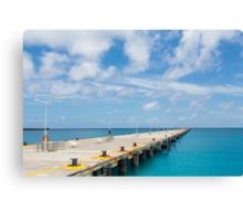 Pier Into Distance Canvas Print