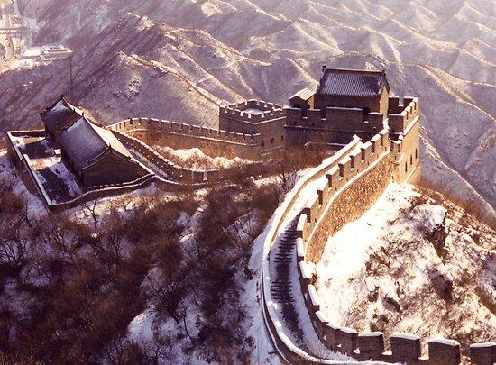 Winter at the Great Wall of China by Hannah Nicholas