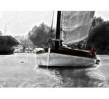Yachting on the Broads Photographic Print