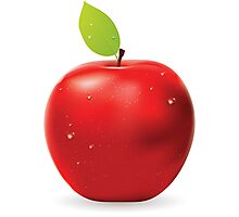 Fresh red apple Photographic Print