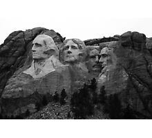 Mount Rushmore National Memorial Photographic Print