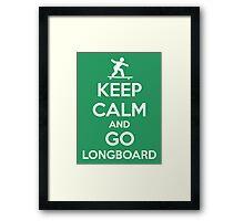 Longboard Framed Print