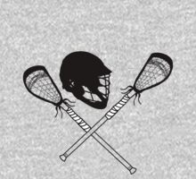 Lacrosse helmet & sticks by Rachel Counts