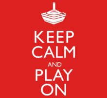 Keep Calm And Play On Kids Clothes