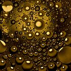 Abstract with bubbles by JBlaminsky