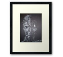 Man or Machine? Framed Print