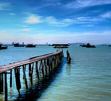 clan jetty in Penang island by singlong