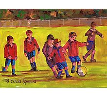 SOCCER GAME  Photographic Print