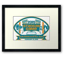 2015 SJ Stadium Game Framed Print